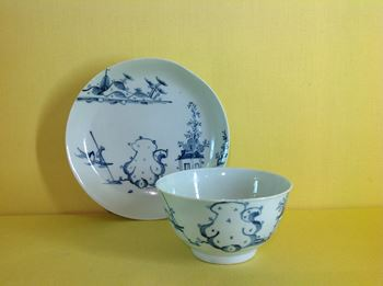 A Richard Chaffers tea bowl and saucer