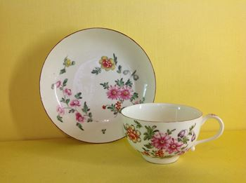 A rare Derby teacup and saucer