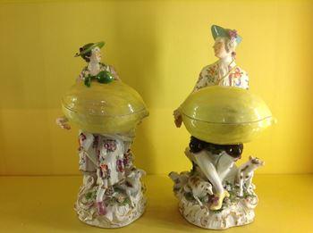 A pair of Meissen sweetmeat figures