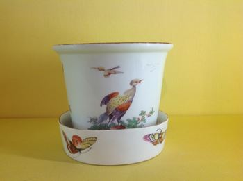 A rare Derby jardiniere and stand