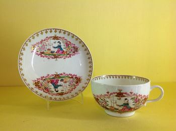 A Worcester teacup and saucer