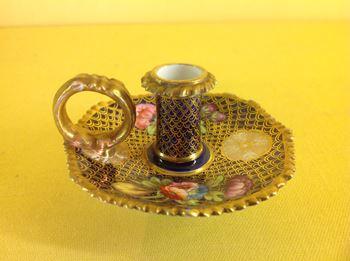 A Spode miniature chamber candlestick