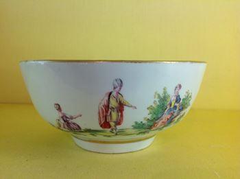 A rare Worcester round bowl