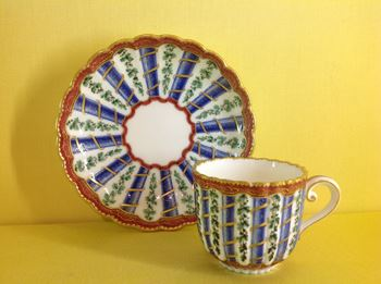 A Sevres small coffee cup and saucer