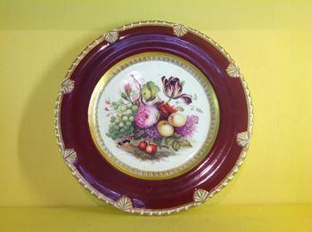 A fine Rockingham plate