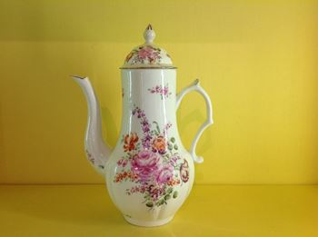 A rare Derby coffee pot and cover