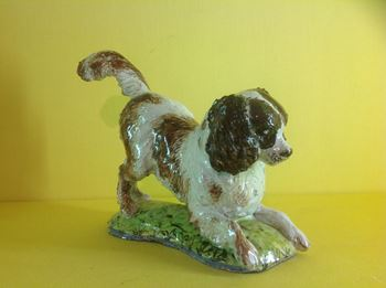 An unusual Anne Gordon (Marchioness of Aberdeen) model of a spaniel