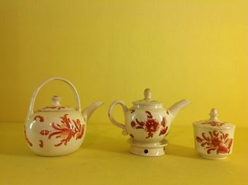 A Creamware miniature part tea service