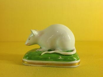 A rare Bloor Derby model of a mouse