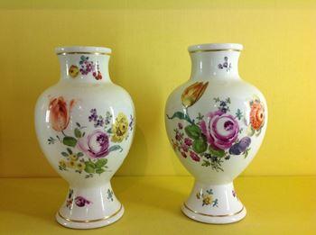A pair of Meissen vases