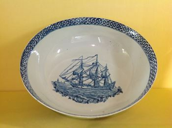A rare Pennington's Liverpool shipping bowl