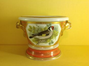 A Coalport jardiniere and stand