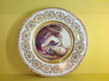 A fine Rockingham cabinet plate
