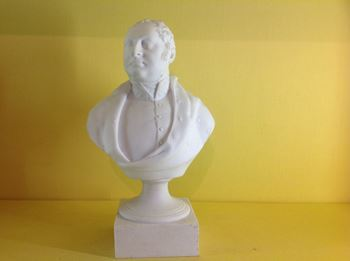 A rare Chamberlain's Worcester biscuit porcelain bust