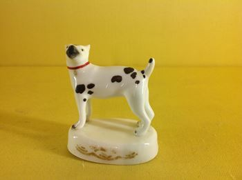 An unusual English porcelain dog