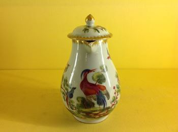 A London decorated Chinese milk jug and cover