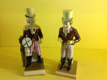 A pair of pearlware theatrical figures of John Liston