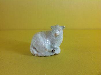 A rare Lowestoft model of a sheep