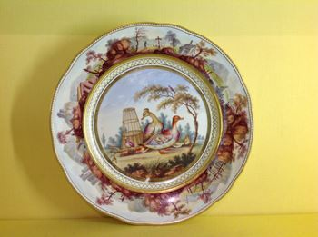 A fine Bloor Derby plate