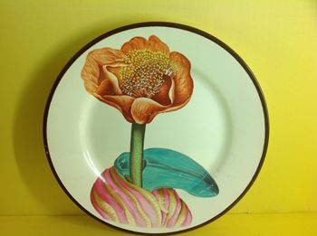 A very fine pearlware botanical plate