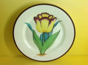A fine pearlware botanical plate