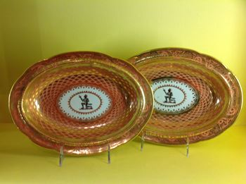 A superb pair of Chamberlain's Worcester dishes