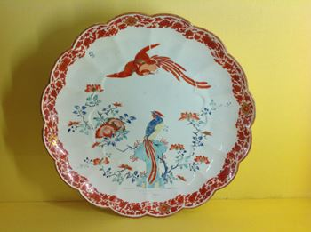 A fine Chelsea large round dish