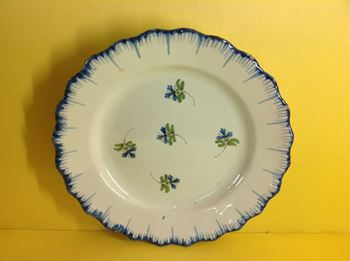 An unusual English Delft plate