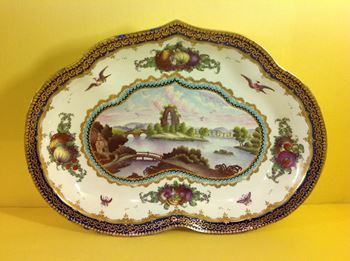 A Worcester Lord Henry Thynne pattern dish