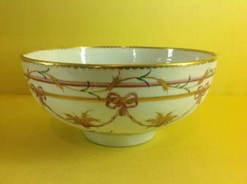 A rare Bristol bowl, from the Butts Service