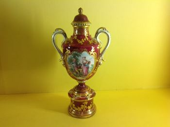 A rare Chelsea vase and cover