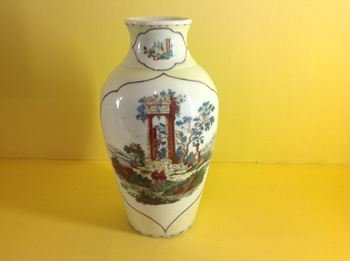 A rare Worcester yellow ground vase
