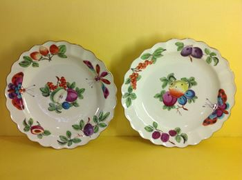 A fine pair of Worcester Giles decorated plates