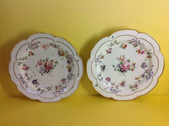 A pair of Bristol plates