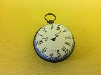 A Bilston enamel Faux Montre or toy watch