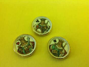 Three unusual Paris porcelain gaming counters
