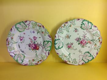 A pair of Longton Hall plates