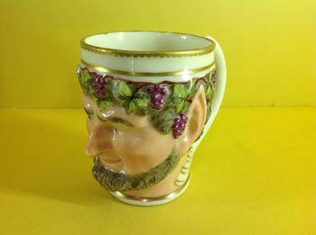 A Derby 'Bacchus mask' mug