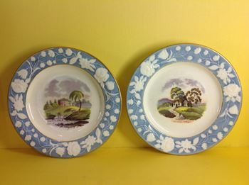 A pair of New Hall plates