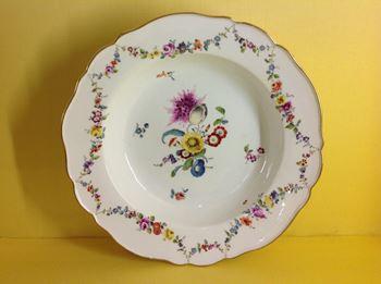 A Meissen deep plate