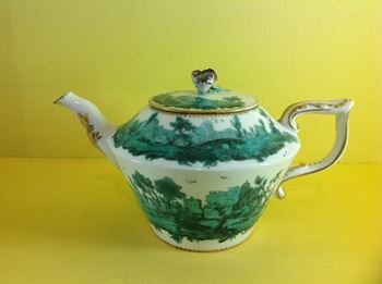 A rare Chelsea teapot and cover