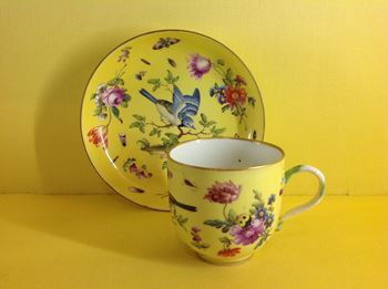 A Meissen coffee cup and saucer