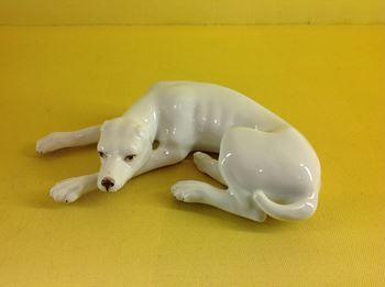 A Samson model of a recumbent hound