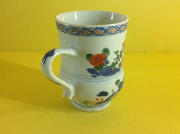 An unusual Chinese Imari mug