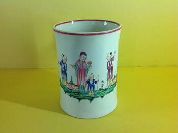 A rare Caughley mug