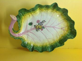 A Chelsea cabbage leaf shaped dish