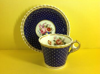 A good Chamberlain's Worcester tea cup and saucer