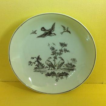 A rare Worcester printed saucer