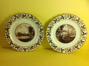 A fine pair of Flight and Barr Worcester plates