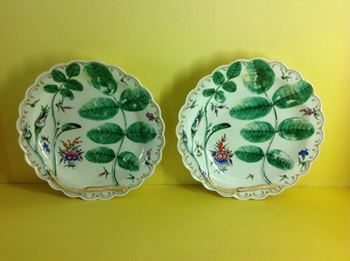 A pair of Worcester 'Blind Earl' plates
